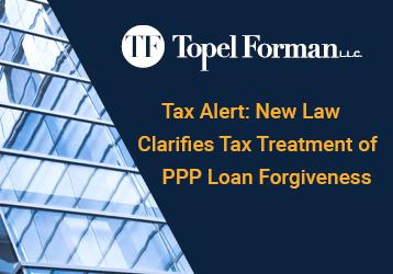 Tax Alert: New Law Clarifies Tax Treatment of PPP Loan Forgiveness (December 30, 2021)